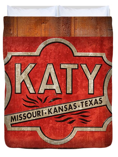 Katy Railroad Sign Dsc02853 Duvet Cover