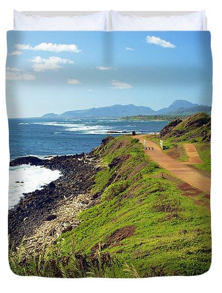 Kauai Coast Duvet Cover by Kicka Witte