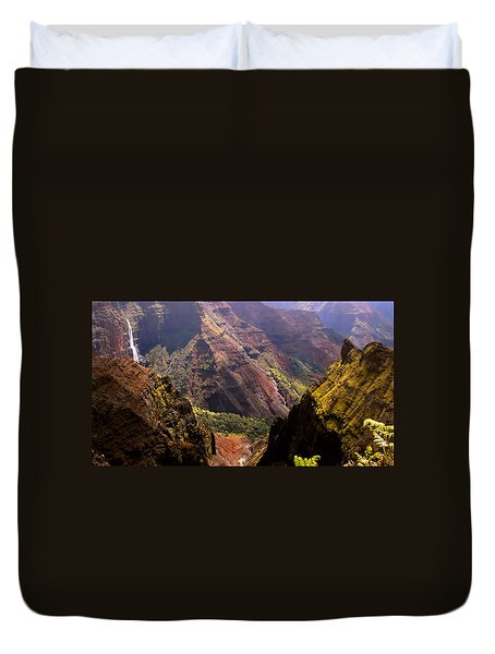 Duvet Cover featuring the photograph Kauai Colors by Katie Wing Vigil