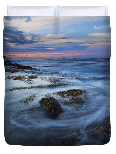 Kauai Tides Duvet Cover by Mike  Dawson
