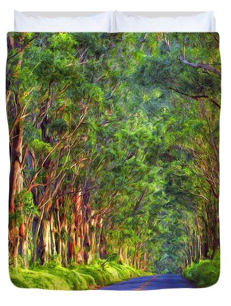 Kauai Tree Tunnel Duvet Cover
