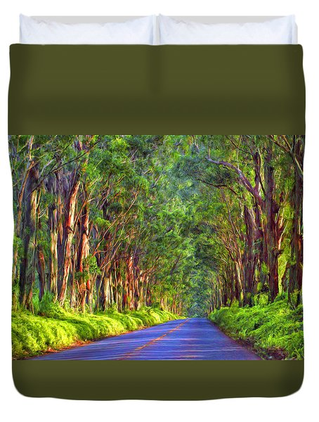 Kauai Tree Tunnel Duvet Cover
