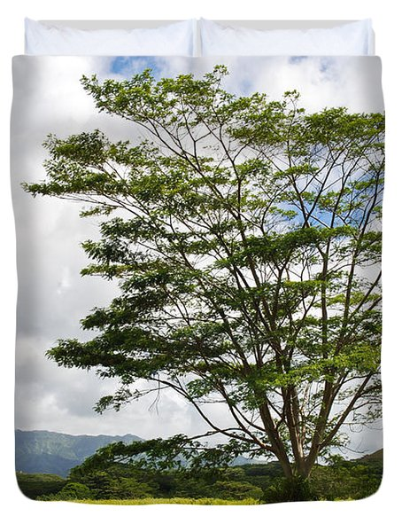 Kauai Umbrella Tree Duvet Cover