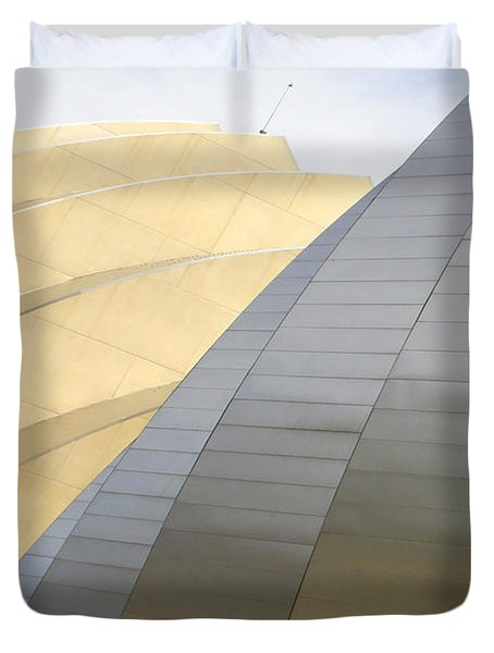 Kauffman Center For Performing Arts Duvet Cover by Mike McGlothlen