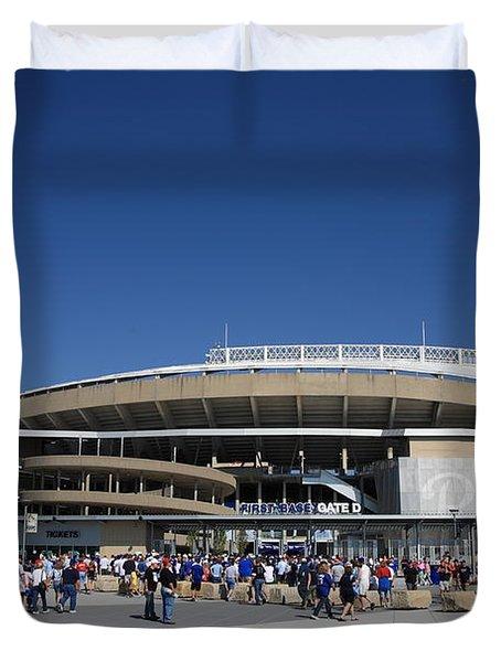 Kauffman Stadium - Kansas City Royals Duvet Cover by Frank Romeo