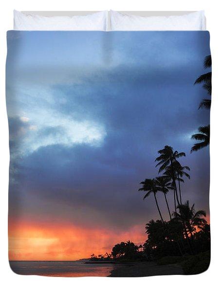 Kawaikui Sunset 2 Duvet Cover by Leigh Anne Meeks