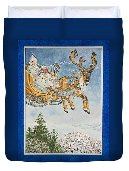 Kay And The Snow Queen Duvet Cover