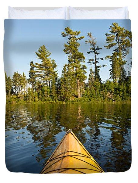 Kayak Adventure Bwca Duvet Cover by Steve Gadomski