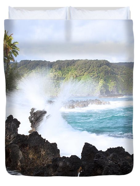 Keanae Lava Rocks Duvet Cover by Jenna Szerlag