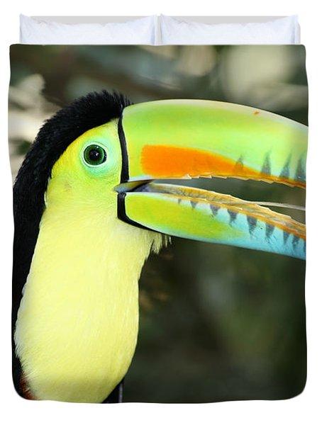 Keel Billed Toucan Duvet Cover