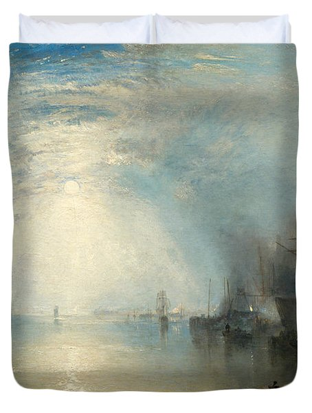 Keelmen Heaving In Coals By Moonlight Duvet Cover
