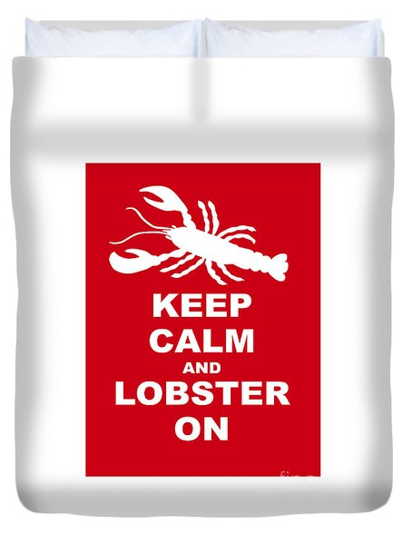 Keep Clam And Lobster On Duvet Cover by Julie Knapp