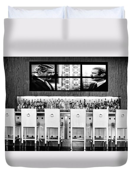 Keep Drinking Men  Palm Springs Duvet Cover by William Dey
