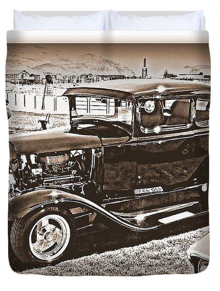 Keep Off My Car Duvet Cover by Bobbee Rickard