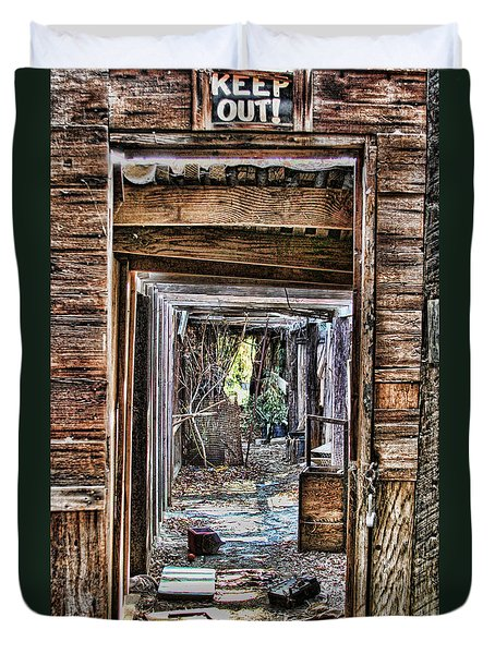 Keep Out By Diana Sainz Duvet Cover
