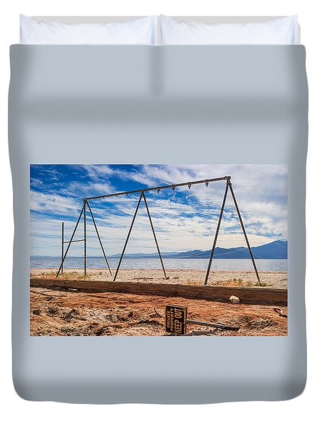 Keep Out No Playing Here Swing Set Playground Duvet Cover