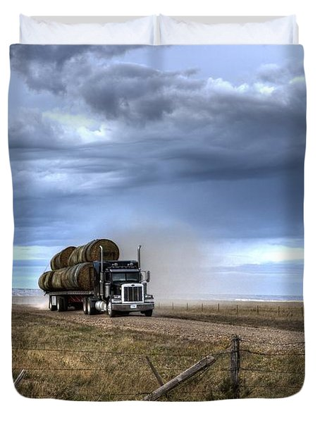 Keep Those Hay Bales Rolling Duvet Cover