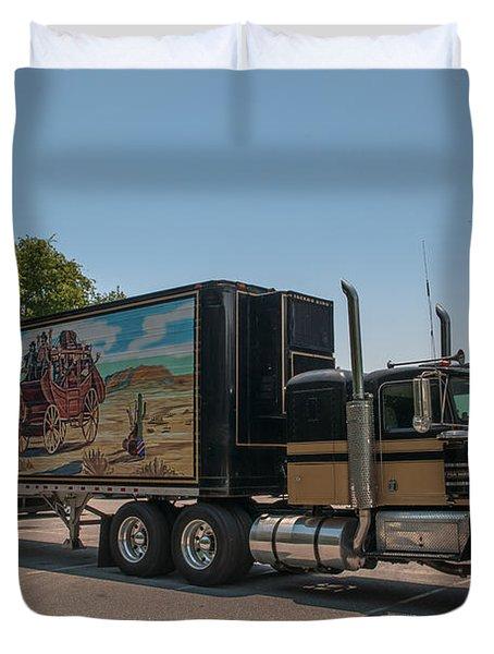 Keep Those Wheels A Truckin Duvet Cover