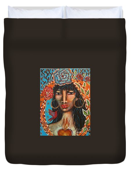 Keeper Of The Flame Duvet Cover by Maya Telford