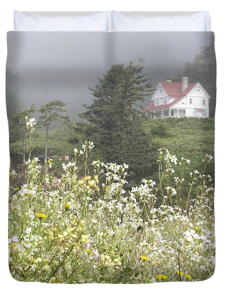 Duvet Cover featuring the photograph Keepers House by Laddie Halupa