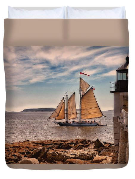Keeping Vessels Safe Duvet Cover by Karol Livote