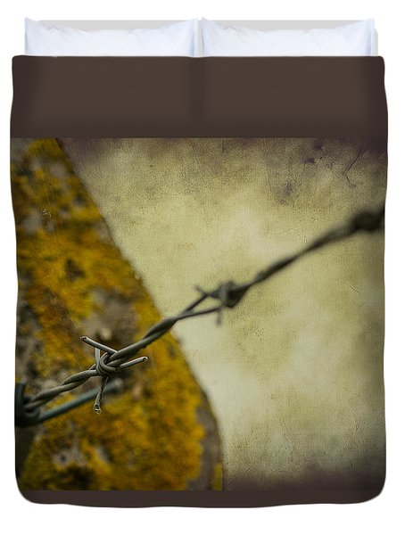 Duvet Cover featuring the photograph Keeping You Out Or Keeping Me In by Clare Bambers