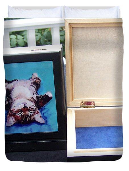 Keepsake Box Duvet Cover by Pat Saunders-White