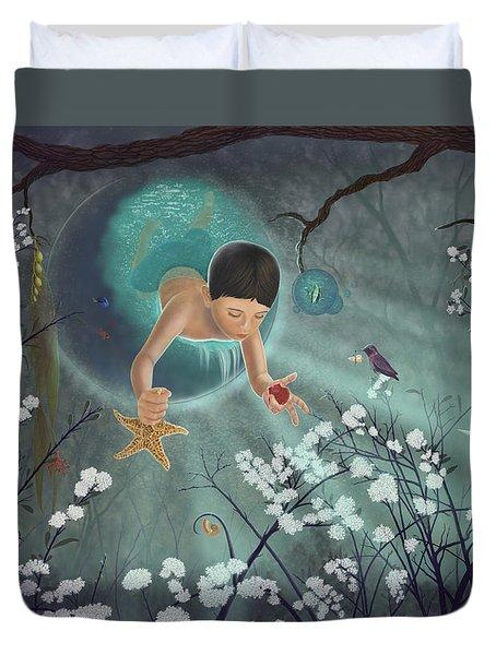 Keepsakes Of The Ocean Duvet Cover by Audra D Lemke