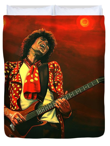 Keith Richards Painting Duvet Cover