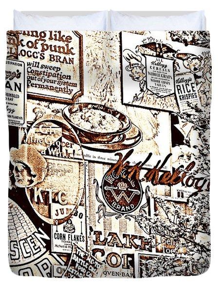 Kellogg's Wall Duvet Cover by Sennie Pierson