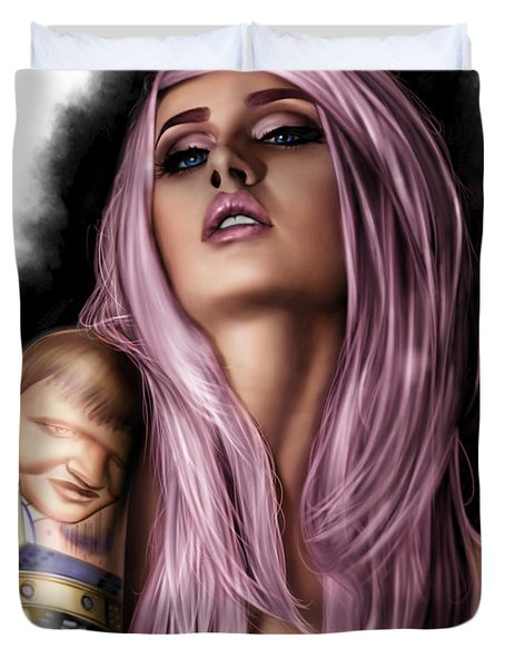 Kelly Duvet Cover by Pete Tapang