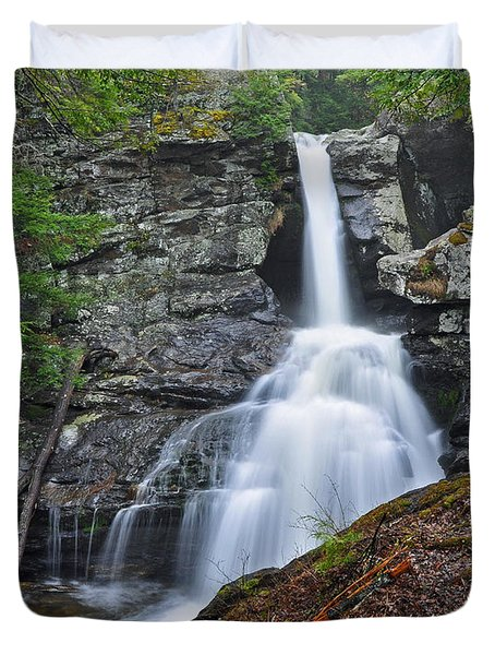 Kent Falls State Park Ct Waterfall Duvet Cover