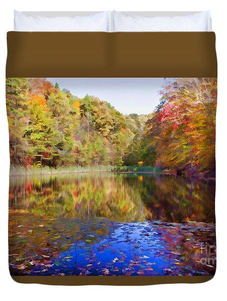 Kentucky Autumn Pond Duvet Cover