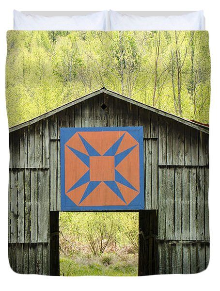 Kentucky Barn Quilt - Happy Hunting Ground Duvet Cover