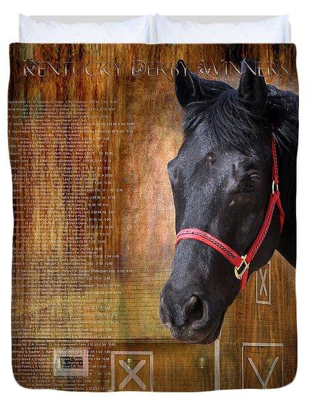 Kentucky Derby Winners Duvet Cover
