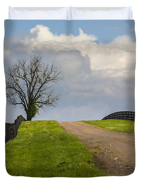 Kentucky Horse Farm Road Duvet Cover