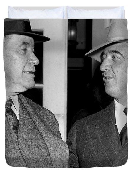 Kentucky Senators Visit Fdr Duvet Cover by Underwood Archives