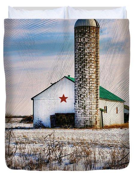 Kentucky Winter Duvet Cover by Darren Fisher