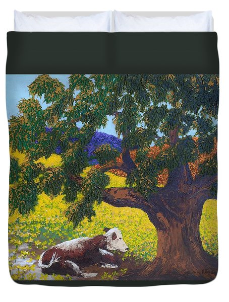Kern County Cow Duvet Cover