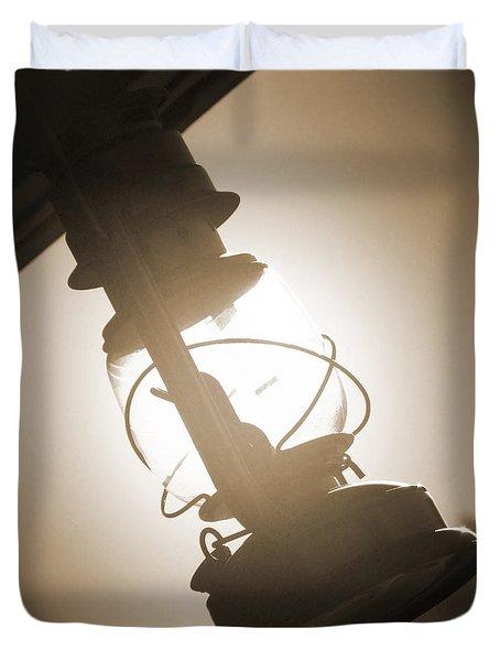 Kerosene Lantern Duvet Cover by Mike McGlothlen