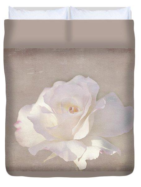 Duvet Cover featuring the photograph Kerstin by Elaine Teague