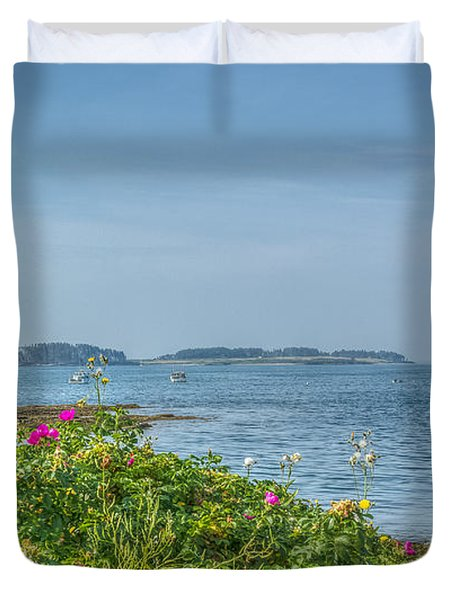 Duvet Cover featuring the photograph Kettle Cove by Jane Luxton