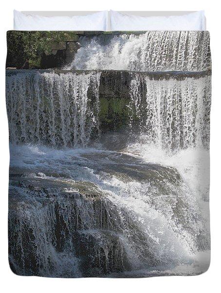 Keuka Seneca Waterfall Duvet Cover by William Norton