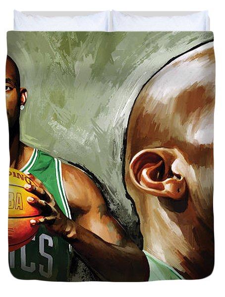 Kevin Garnett Artwork 1 Duvet Cover by Sheraz A