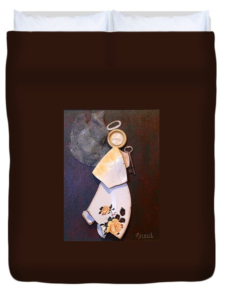 Key Angel Duvet Cover