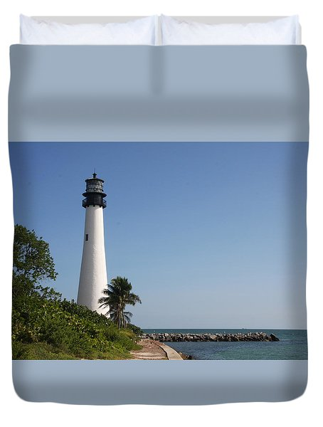 Key Biscayne Lighthouse Duvet Cover by Christiane Schulze Art And Photography