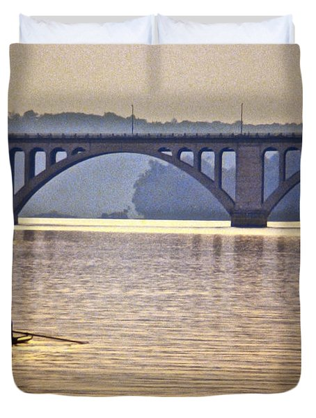 Key Bridge Rower Duvet Cover