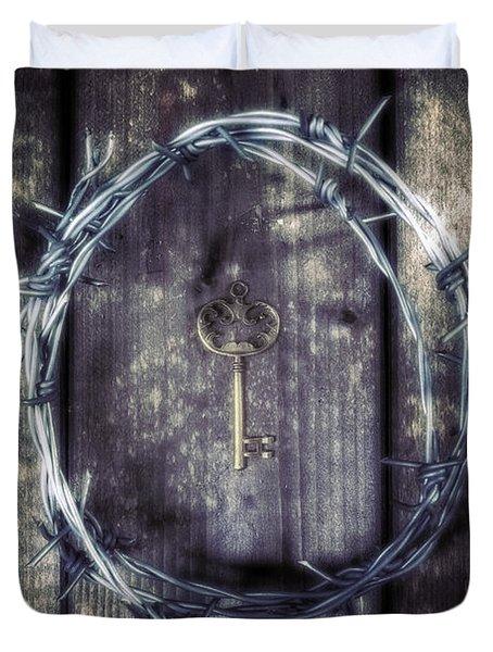 Key Of A Treasure Chest Duvet Cover by Joana Kruse