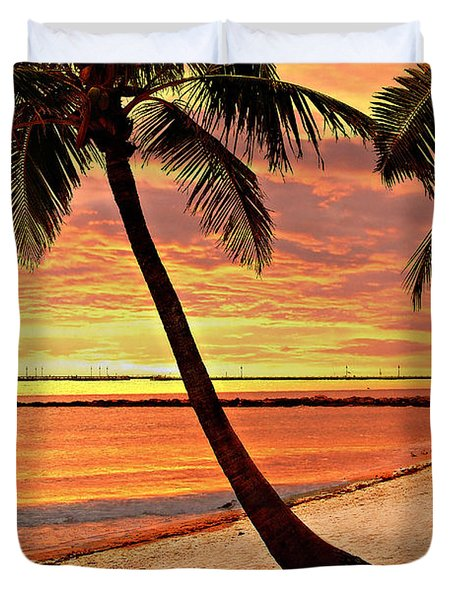 Key West Beach Duvet Cover by Marty Koch
