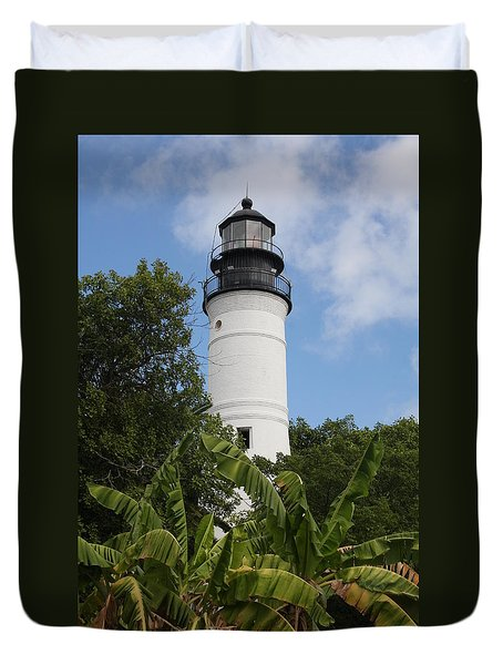 Key West Lighthouse  Duvet Cover by Christiane Schulze Art And Photography